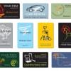 10の職種に対応!ポップなビジネスカードテンプレート(EPS)
