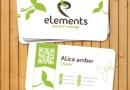 シンプルなグリーンナチュラルデザイン!エコ名刺テンプレート(AI・EPS)