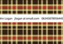 フレンドリーなイメージを与えるチェック柄の名刺(EPS)