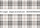 チェック柄がかわいい無料の名刺テンプレート(EPS)