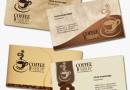 コーヒーショップ(カフェ)に最適!4種類の名刺テンプレート・無料ダウンロード(PSD)