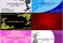 リゾート風で華やかなフローラル素材の名刺テンプレートセット(AI)