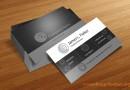 白黒グレーでデザインされたスタイリッシュ名刺テンプレート(商用可・PSD)