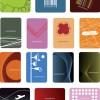 ポップで抽象的なデザイン!シンプル名刺テンプレート(EPS)